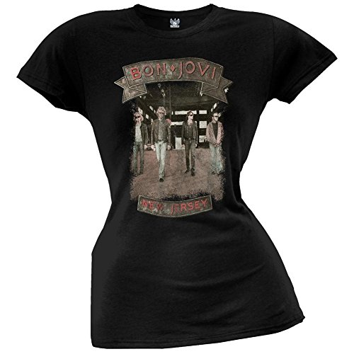 (Bon Jovi - Womens Warehouse Juniors T-shirt Medium Black)