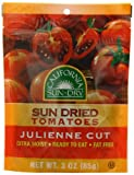 California Sun-Dry Sun Dried Tomatoes (Julienne Cut), 3-Ounce Pouches (Pack of 6)