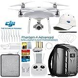 DJI Phantom 4 Advanced Quadcopter Drone w/DJI Pilots Hat & Hard Shell Backpack Bundle