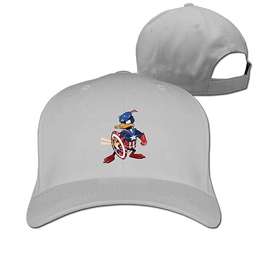 e78ebffe4ad Aiguan Captain Donald Duck Cap - Classic 100% Cotton Hat Ash at ...