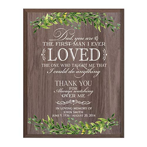 (LifeSong Milestones Personalized Wedding Dad You are Sympathy Gifts for Loss of Loved one Bereavement Wall Plaque for Loss of Mother Father Child with Leaf Border (Salt)