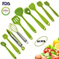 10pcs Silicone Utensils Set, Heat-Resistant, Non-Stick, Safety Health, Silicone Baking Kitchen Cooking Tool Sets