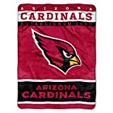 The Northwest Company Officially Licensed NFL Arizona Cardinals 12th Man Plush Raschel Throw Blanket, 60