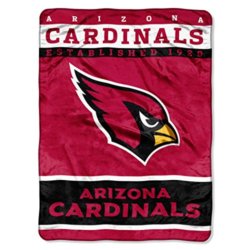 Officially Licensed NFL Arizona Cardinals 12th Man Plush Raschel Throw Blanket, 60
