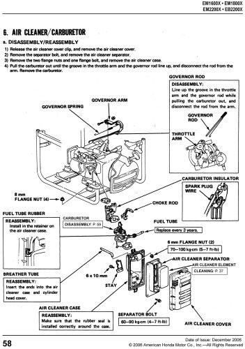 Honda Generator Wiring Diagram Pdf : Honda eb em generator