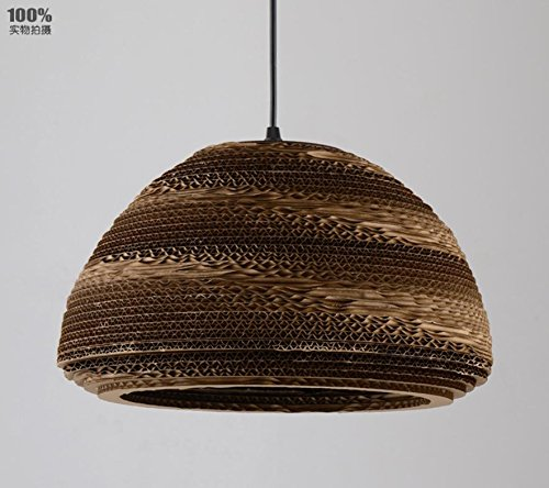- WYMBS Creative furniture decoration pendant light Cocoons of hand-woven kraft paper chandelier , bowl type
