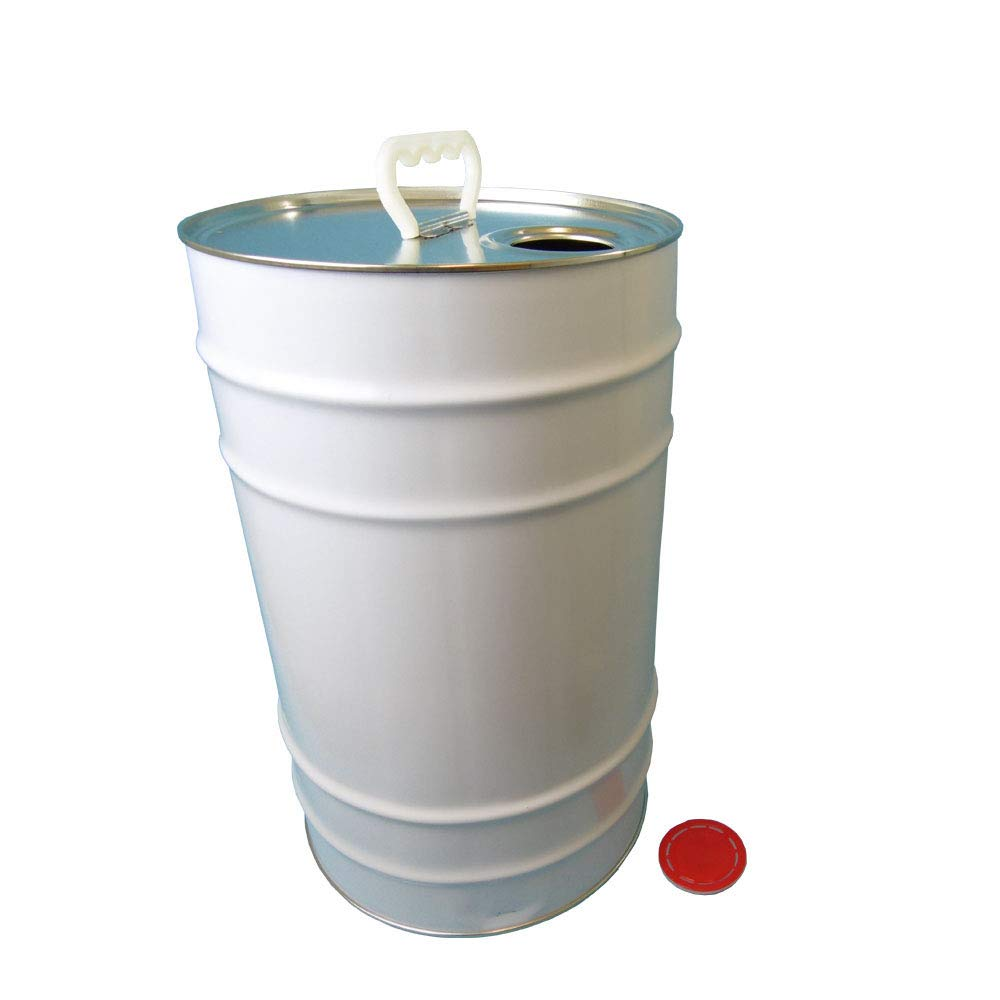 25 L Ltr Litre Tin Tinplate Drum Barrel Container Plain with Easy Pour Berg Cap for Storage of Solvent Based Paints, Liquids, Oils, Stains, Chemicals, Adhesives Oipps