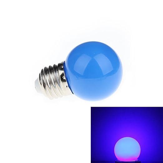 aquiver 1 W E27 redondo LED pelota de Golf Mini bombilla lámpara ...
