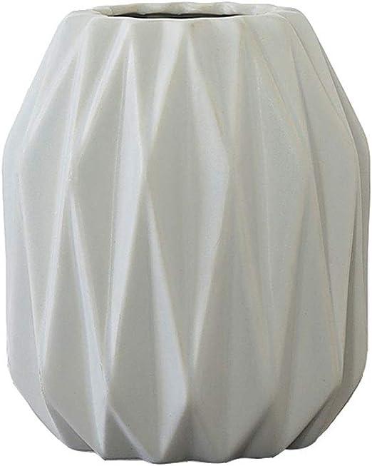 JJXZM Fleurs Vase, Motif Plié Gris Blanc Mat Bouteille en ...
