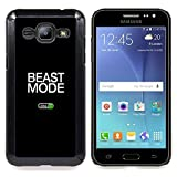 - Beast Mode Exercise Rogan Black Text - Slim Guard Armor Phone Case- For Samsung Galaxy J2 Devil Case