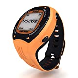 Pyle GPS Sports Watch and Workout Trainer – For Tracking Running, Biking, Hiking Outdoors – Displays Pace, Speed and Distance (Orange)
