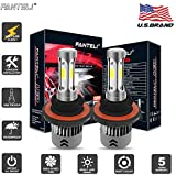 FANTELI H13/9008 4300K 3-Sided LED Headlight Bulbs All-in-One Conversion Dual Beam High/Low Beam Kit -12000 Lm 5000K Xenon HID OEM Warm White 5K Replacements Extremely Bright - 5 Years Warranty