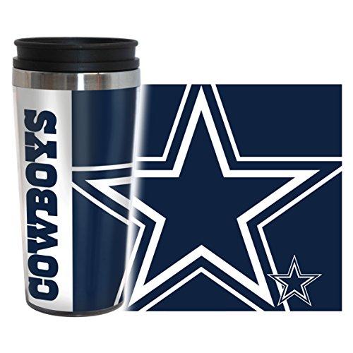 NFL Dallas Cowboys Hype Travel Tumbler, 16-ounce, Blue Nfl Dallas Cowboys Travel Mug
