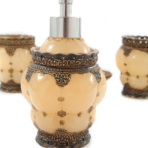 Dream bath royal palace 4 piece bathroom accessories for The collection bathroom accessories