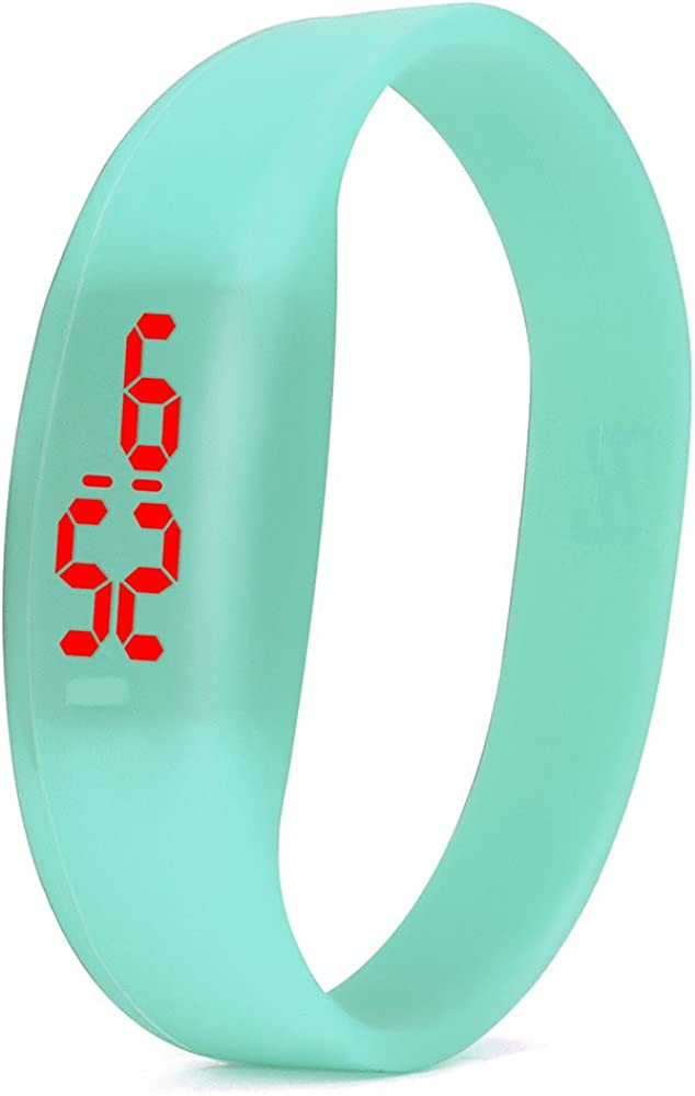 Yivise Unisex Moda Deporte Reloj Banda Digital de LED de Silicona Ligero Mini Digital Hombres Mujeres Relojes de Pulsera