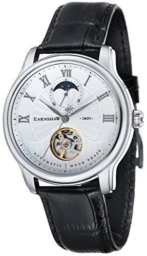 Thomas Earnshaw Mens The Longitude Moonphase Watch - Black/White/Silver