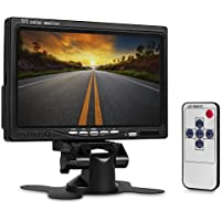 WickedHD 7 Inch High Resolution Rotating Color TFT LCD Display Monitor with Remote Control and Mounting Bracket