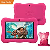 PRESIDENT'S DAY SALE! Contixo Kid Safe 7'' HD Tablet WiFi 8 GB Bluetooth, Free Games, Kids-Place Parental Control W/ Kid-Proof Case (Pink) - Best Gift