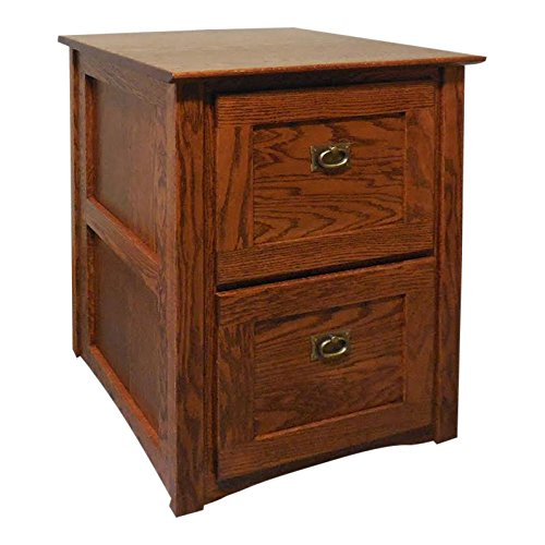 Mission Style 2 Drawer (Authentic Mission Style Solid Oak 2 Drawer Filing Cabinet #320)