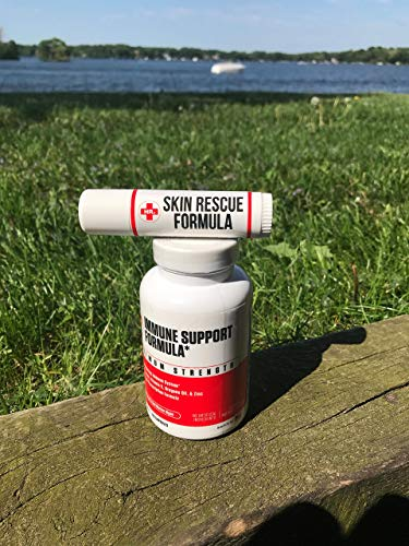 Skin Rescue Formula (Herp Stop Discreet) Defense and Support for Clear Skin 100% Natural! Peppermint Oil, Shea Butter, Zinc, Tea Tree, Coconut Oil .5 oz