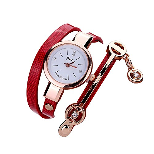 Brojet Women's Fashion Watches Quartz Weave Wrap around Leather Bracelet Wrist Watch from BROJET