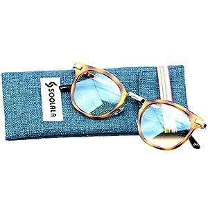 SOOLALA Womens Hot Fashion Cateye Eyeglass Frame Stylish Reading Glasses, Tortoise, +1.25D