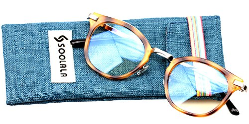SOOLALA Womens Hot Fashion Cateye Eyeglass Frame Stylish Reading Glasses, Tortoise, - Reading Mens Glasses Uk