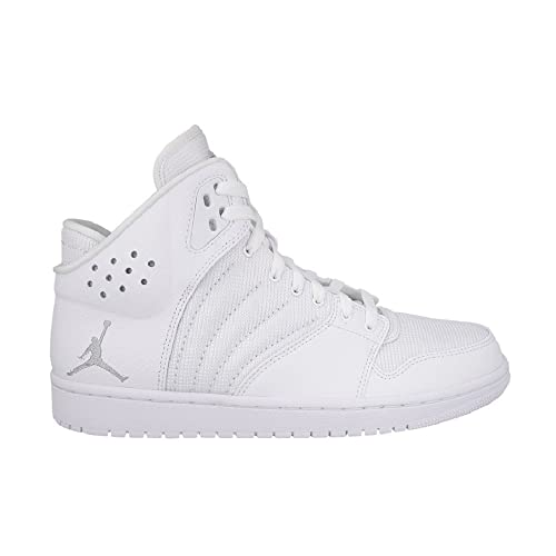 f4cdef6ff Nike Men's Jordan 1 Flight 4 Indoor Court Shoes Multicolour White/Silver  (White/