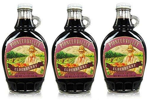 - Pioneer Valley Gourmet Elderberry Fancy Syrup 11.5 oz. - 3 pack