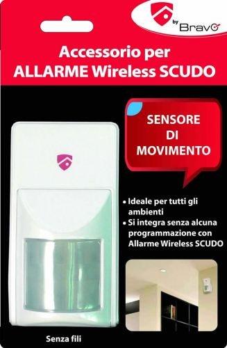 Bravo 92902936 Sensor de infrarrojos Inalámbrico Pared Blanco detector de movimiento - Sensor de movimiento (Sensor de infrarrojos, Inalámbrico, Alcalino, ...