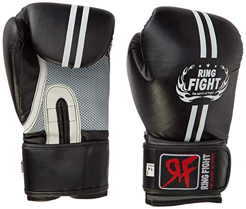 Ring Fight Pro Boxing Gloves  Black