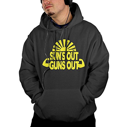 Suns Out Guns Out Men's Custom Long Sleeve Hoodies XL