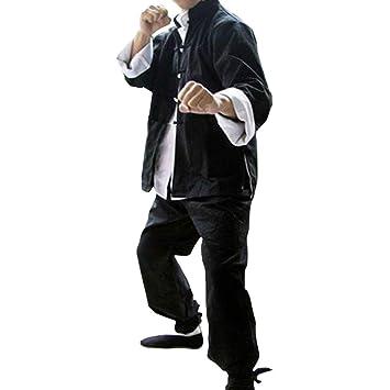 ZooBoo Mens Classic Kung Fu Martial Arts Uniforms Set of 3 - Cotton - Black