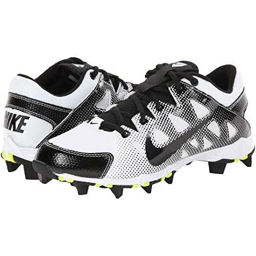 NIKE Women's Hyperdiamond Keystone Low Molded Softball Cleats White/Black (12M) by NIKE