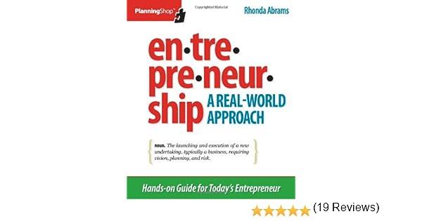 Entrepreneurship: A Real-World Approach: Rhonda Abrams ...