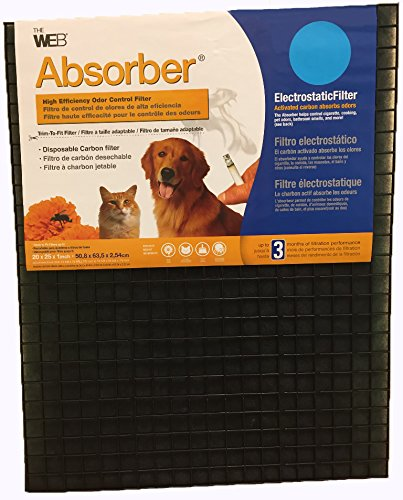 Filters Carbon Electrostatic (WEB Absorber Cut to Fit Odor Control Air Filter with Carbon)