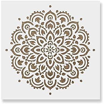 amazon com mandala stencil template reusable large or small