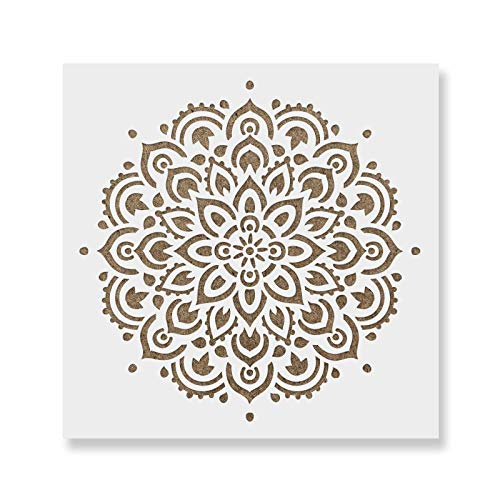 Mandala Stencil Template - Reusable Large or Small Mandala Sizes for Crafts - Perfect Wall Stencils for Home Decor
