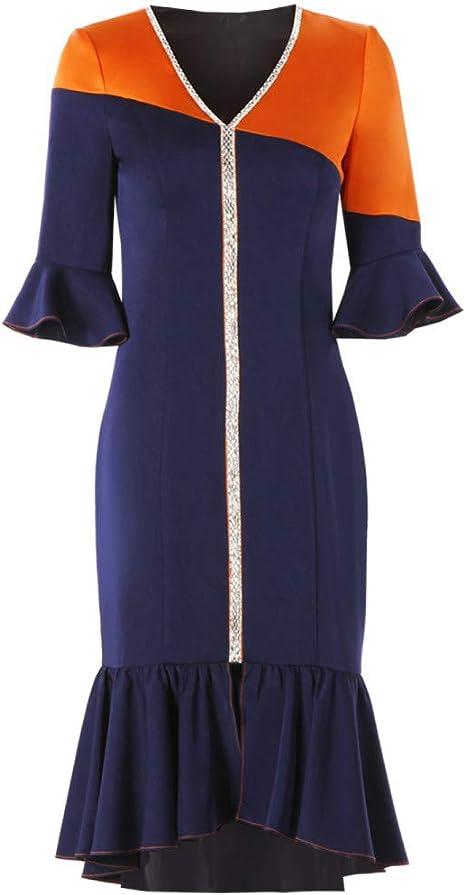 BINGQZ Mujeres Vestido Coctel Falda Vintage Falda Ajustada Vestido ...