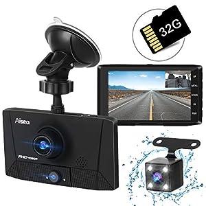 ドライブレコーダー 最新版 前後カメラ 車載カメラ 車内外同時録画 リアカメラ付き