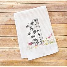 Kitchen Dish Towel - Good Morning - Cows Farm Themed Kitchen Decoration