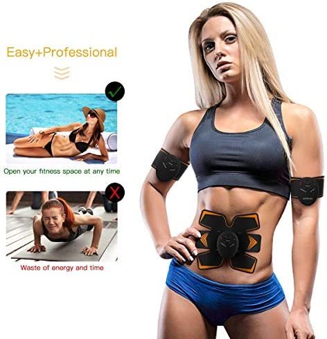 Antmona Abs Stimulator, Muscle Toner - Abs Stimulating Belt- Abdominal Toner- Training Device for Muscles- Wireless Portable to-Go Gym Device- Muscle Sculpting at Home- Fitness Equipment, Black 4