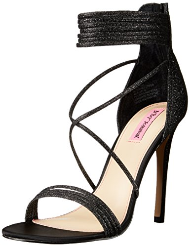 Blue Av Betsey Johnson Womens Kora Kjole Sandal Black Glitter