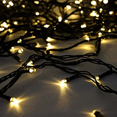 LEEPO Solar Christmas 12M 100 LED 3 Modes Fairy String Lights for Outdoor, Gardens, Homes, Wedding, Christmas Party, Waterproof(Warm White)