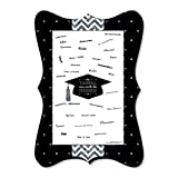 Big Dot of Happiness Silver - Tassel Worth The Hassle - Unique Alternative Guest Book - Graduation Party Signature Mat