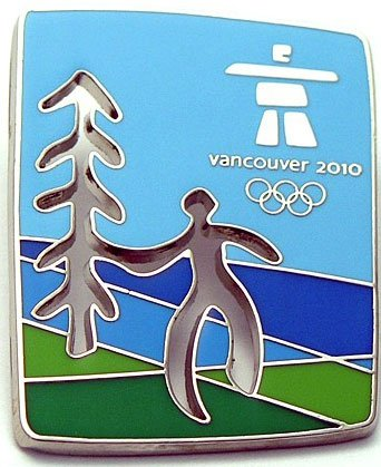 (Vancouver 2010 Olympics - Cut Out Tree Pin)