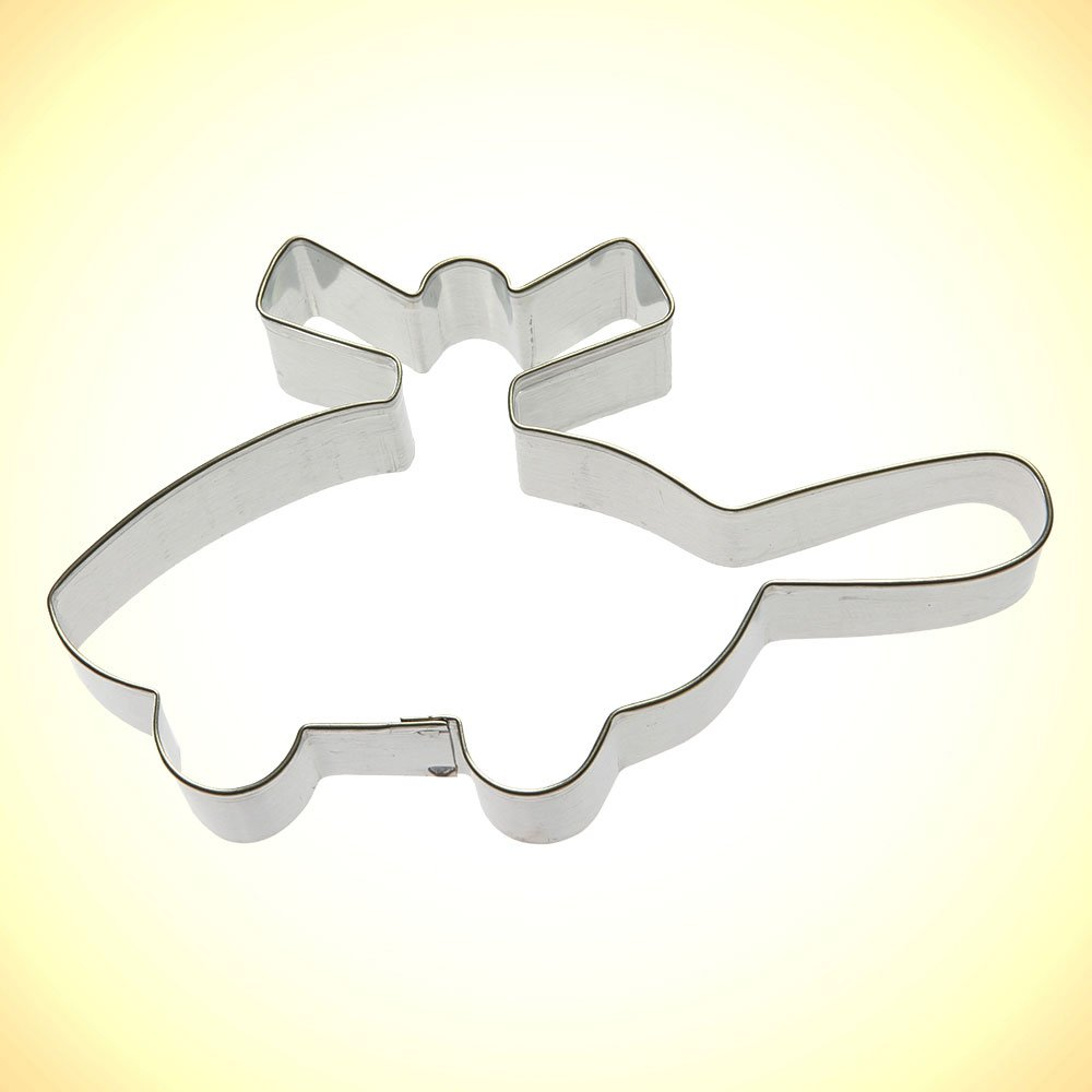 Helicopter Metal Cookie Cutter