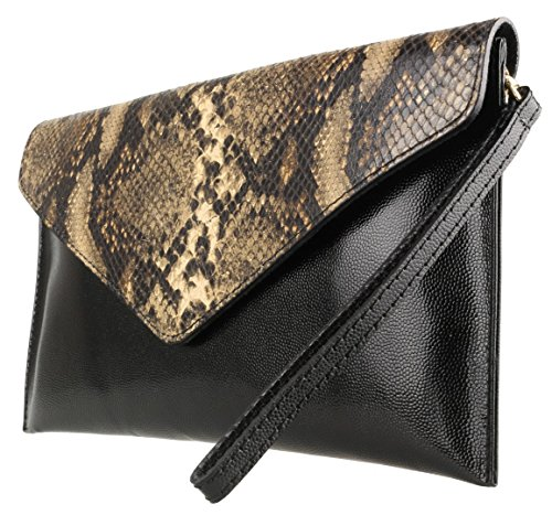 Snake Envelope Khaki Handbags Animal Bag Girly Print TOBvpnX