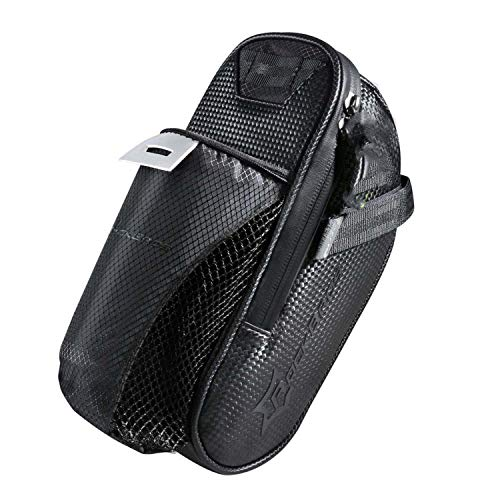 Bicycle Saddle Bag with Water Bottle Pocket Waterproof MTB Bike Rear Bags Cycling Rear Seat Tail Bag Bike Accessories,Only Bag