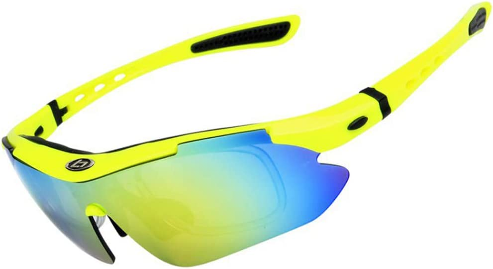 MUTANG Gafas de Pescar polarizadas Espejo Claro Noche Gafas de Pesca Espejo de Pesca Gafas de Montar al Aire Libre a Prueba de Polvo Gafas de Parabrisas de Impacto